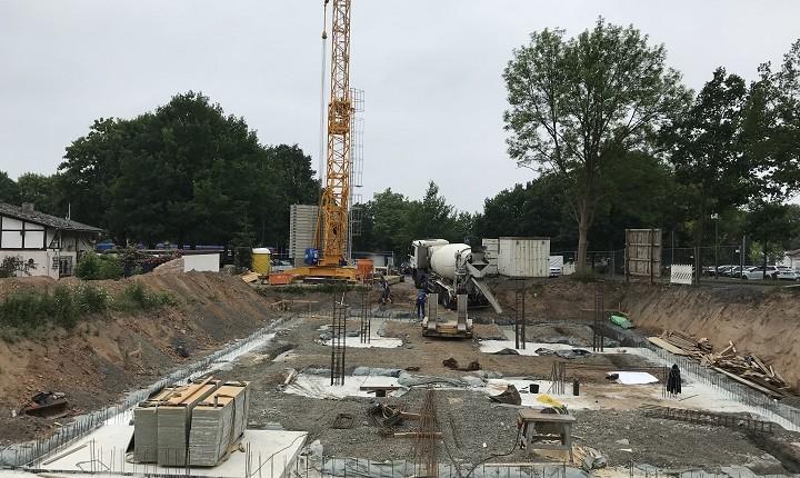 """Baufortschritt der """"Wohnanlage am Wolfsgraben"""" am 9. Juni 2018"""